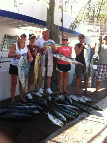 nice dolphin and wahoo catch