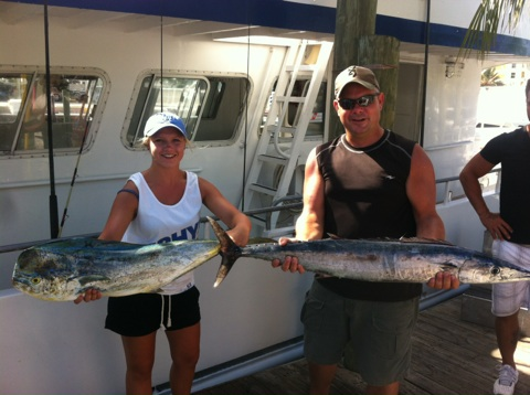 Dolphin and wahoo