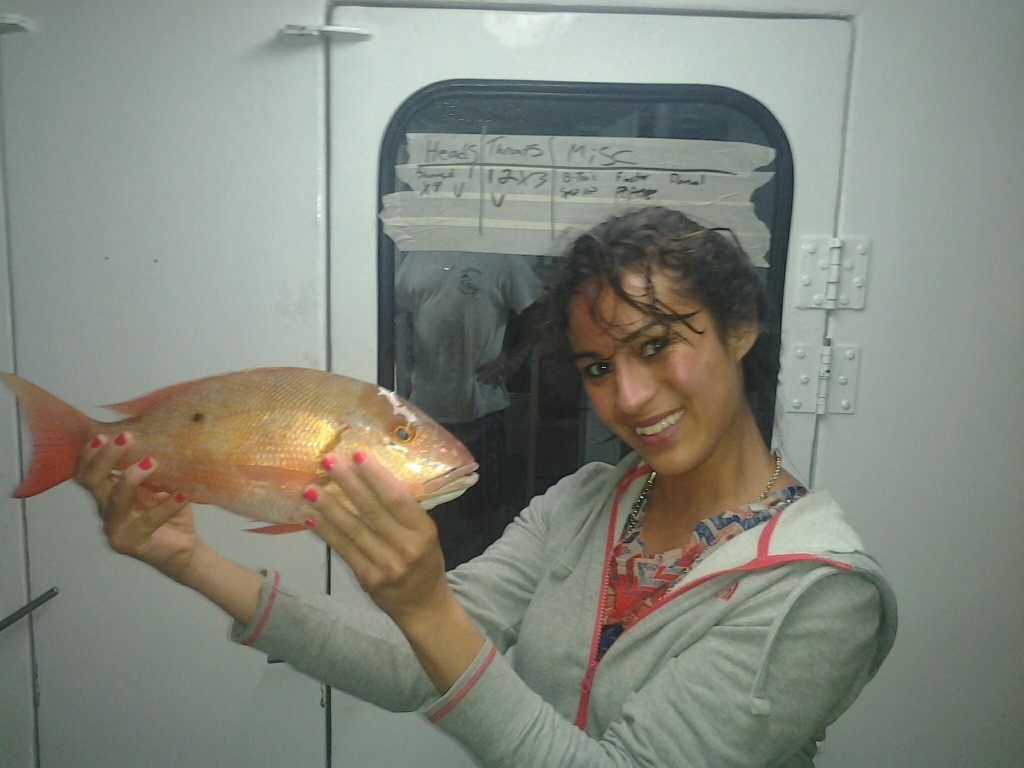 nice snapper for this lady angler
