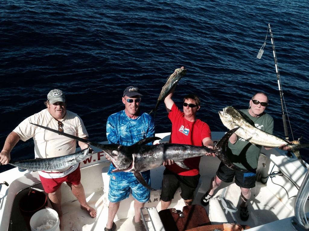 Nice swordfish, dolphin and wahoo