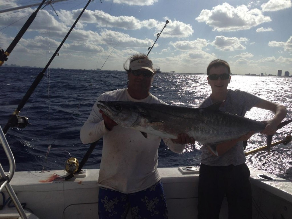 Nice kingfish caught in the late afternoon