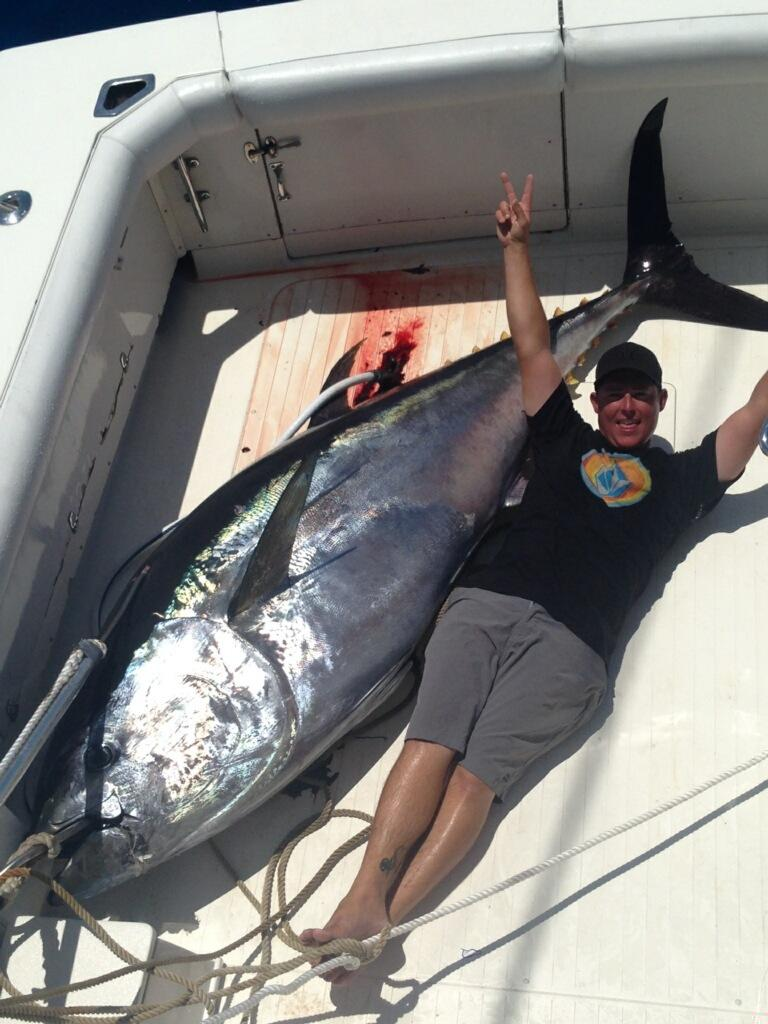 giant tuna in the boat