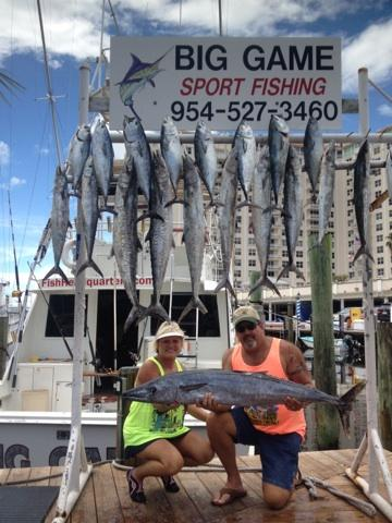 great catch of kingfish and wahoo