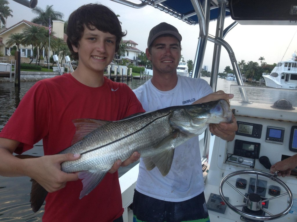 Snook caught and in the boat