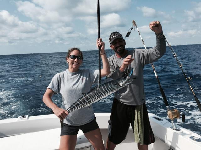 Wahoo just caught off Fort Lauderdale