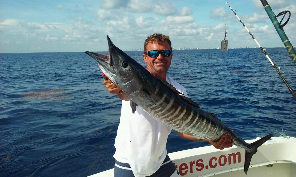 Nice wahoo just caught and all lit up.