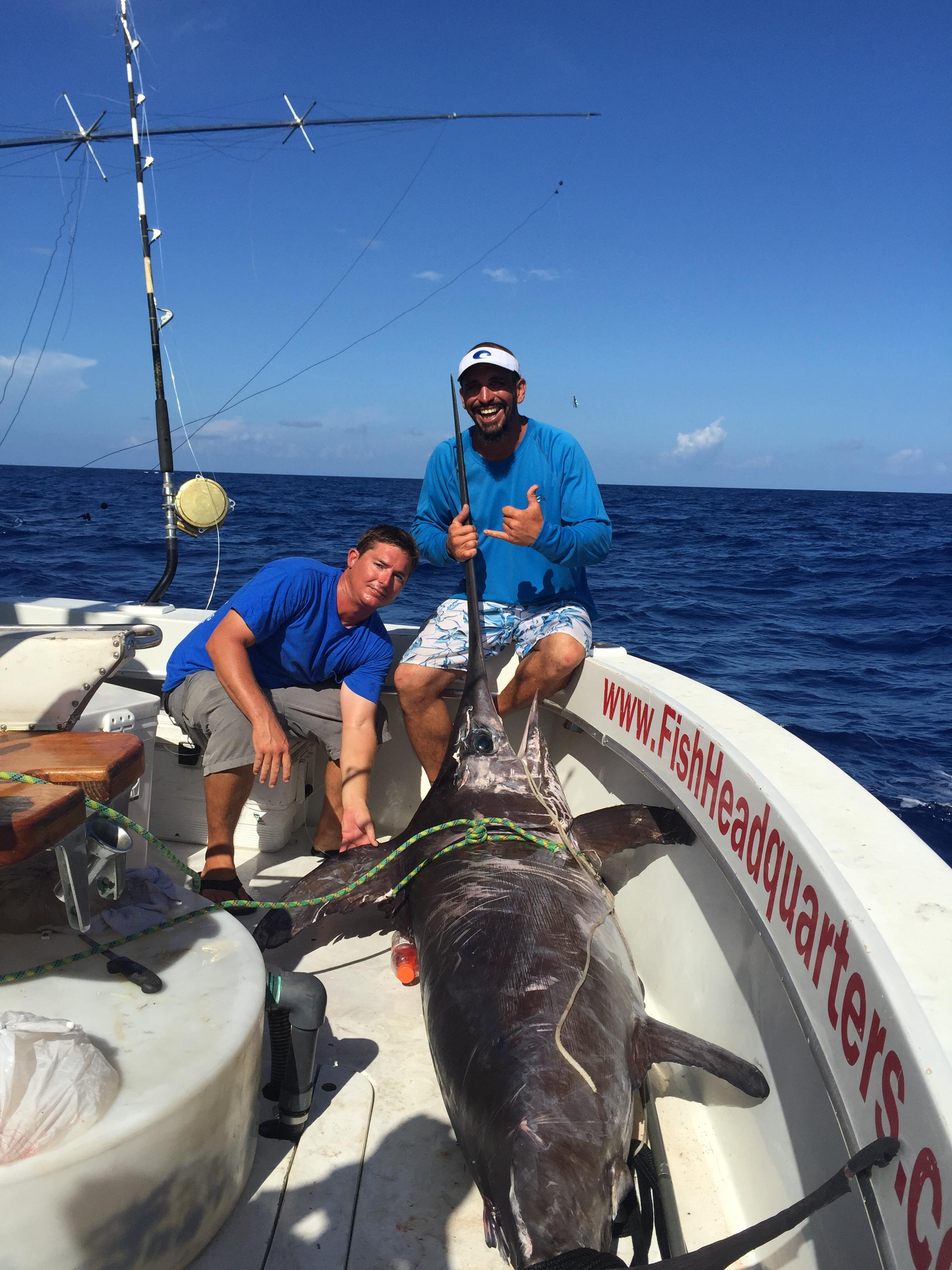 500 Pound Swordfish Caught Daytime Swordfishing In Fort