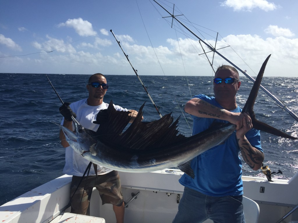 Nice sailfish caught fishing on a charter in Ft Lauderdale