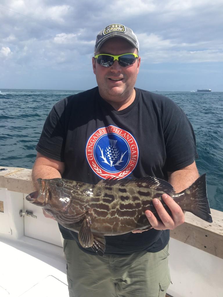 Nice black grouper caught just before beginning grouper season