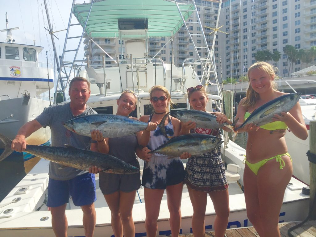 Bonitos, tunas and kingfish caught trolling the Ft Lauderdale reef