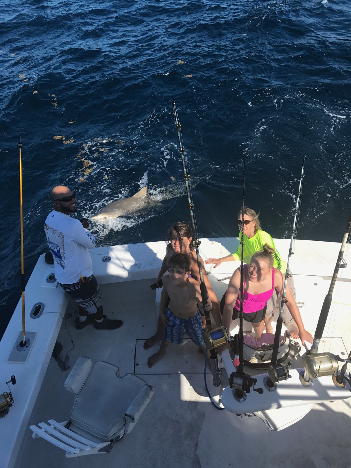 Great summertime action on our ft lauderdale fishing charters for Shark fishing charters