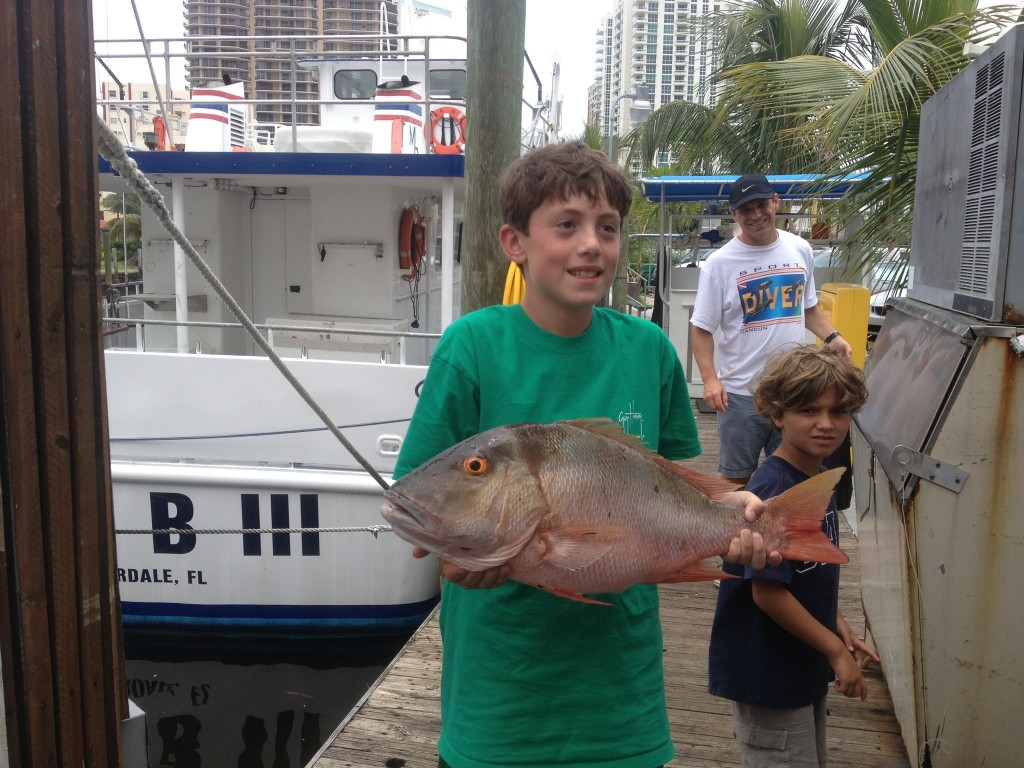 Nice mutton snapper caught aboard the Mary B III