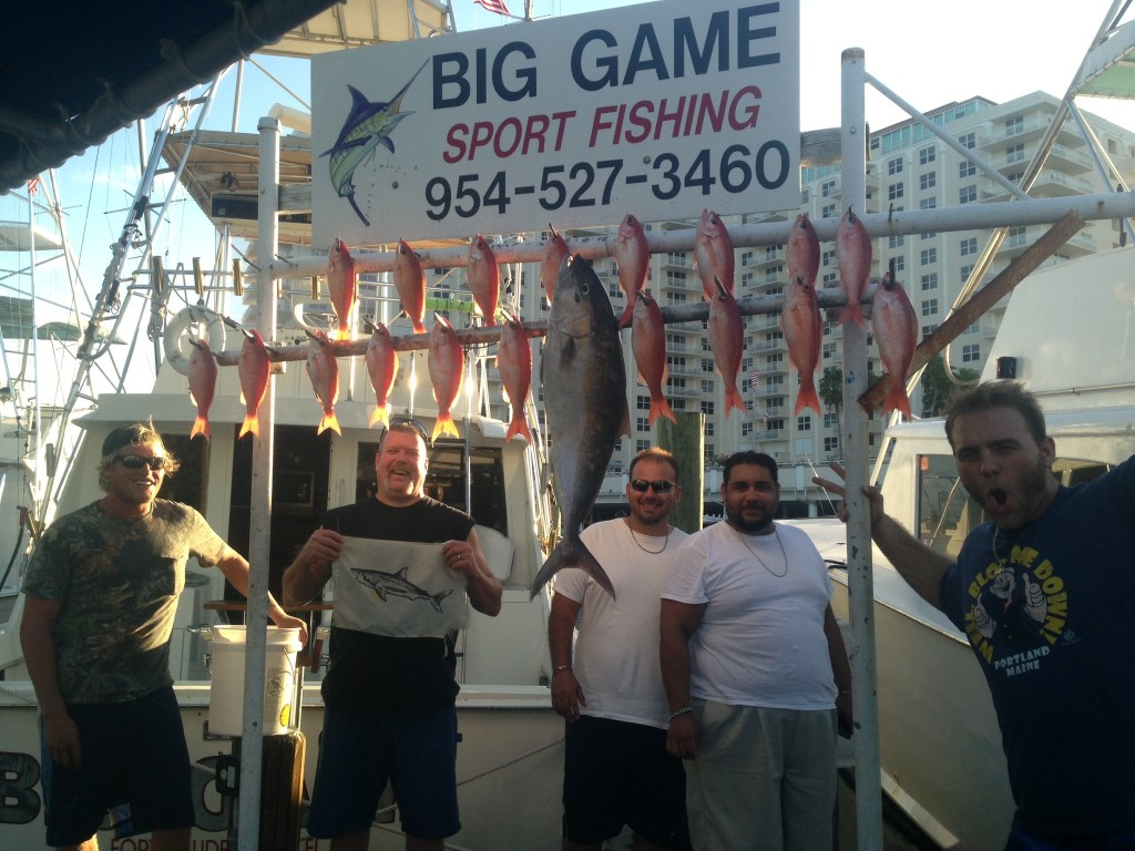 vermillion snappers, amberjack and shark