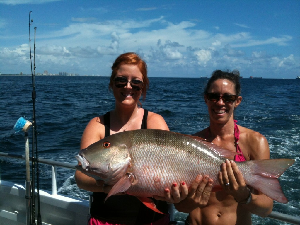 Nice mutton snapper caught by these girls