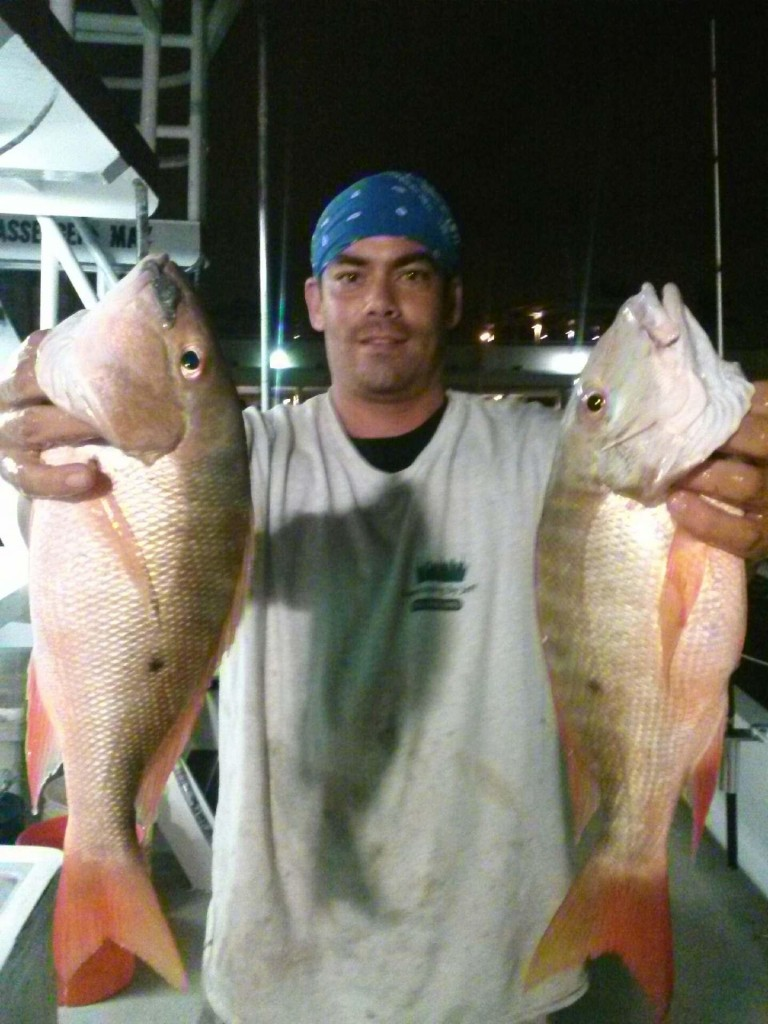 Nice double mutton snapper catch