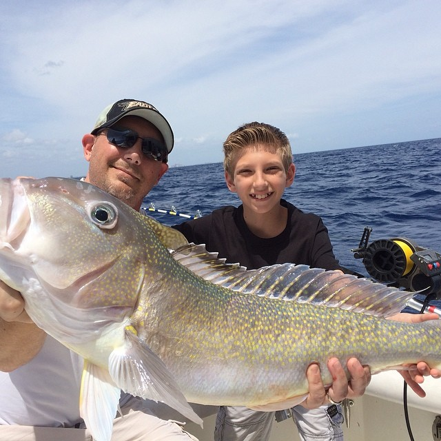 Golden tilefish caught in 600ft of water