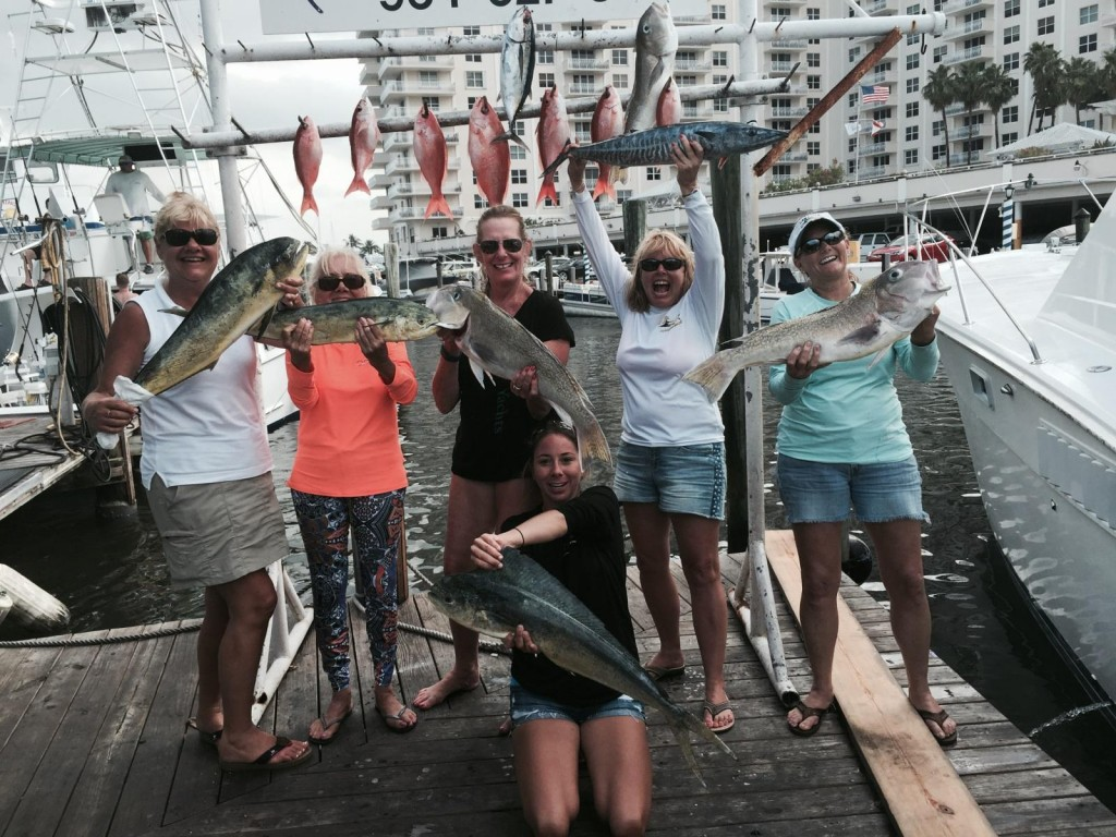 Nice mixed bag of fish caught today on our fishing charter.