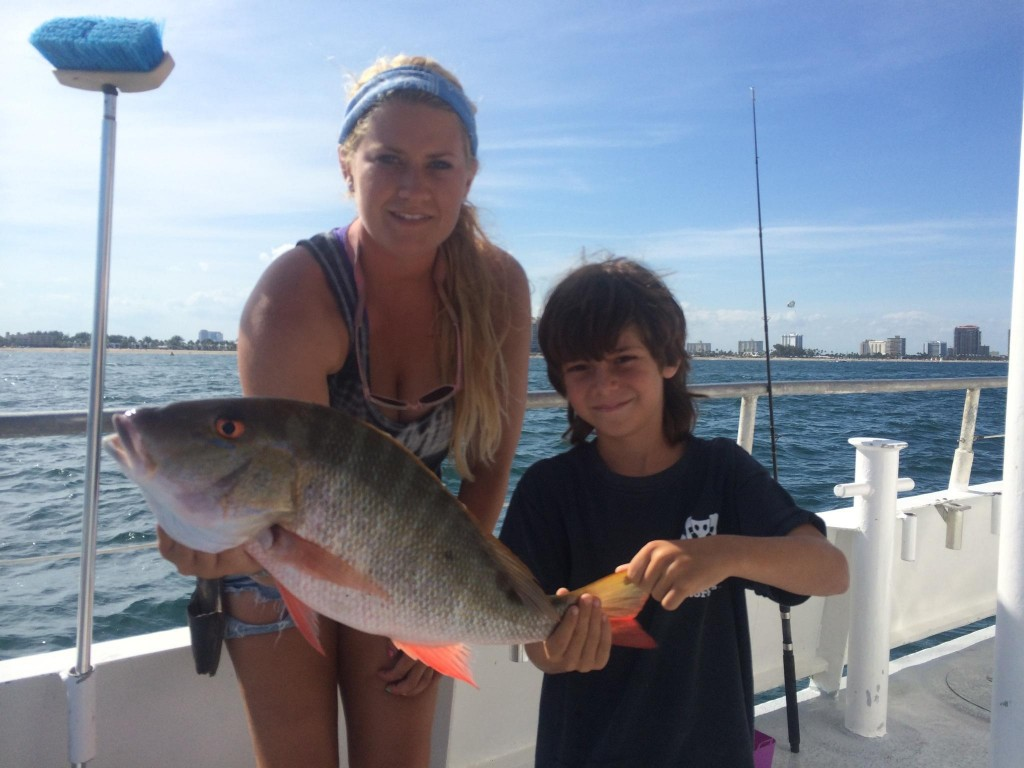nice mutton snapper for this young angler