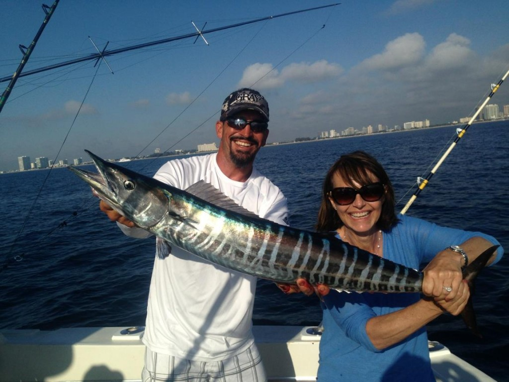 Nice wahoo just caught in Ft Lauderdale