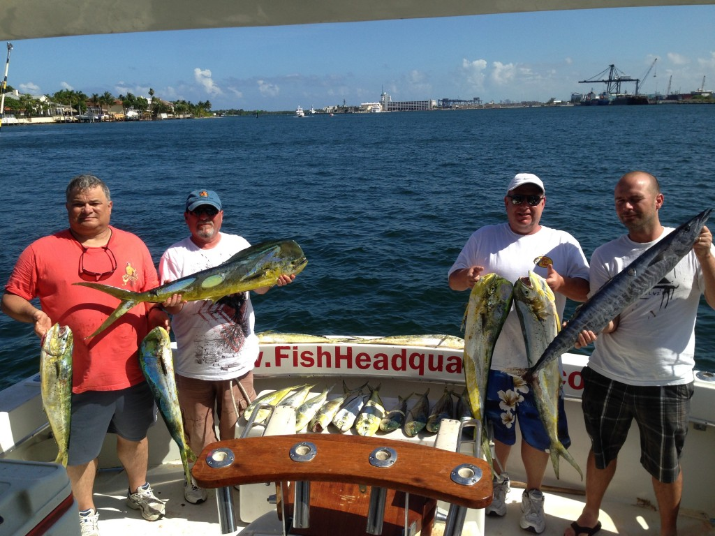 Nice dolphin and wahoo catch in Ft Lauderdale