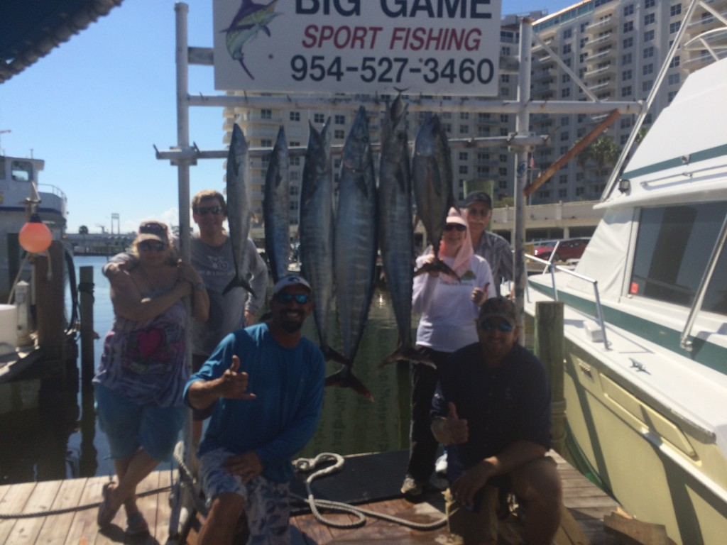 Nice catch of fish at the dock in Ft Lauderdale