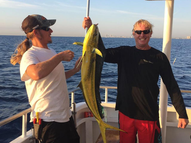 Nice dolphin caught on a fishing charter aboard the Mary B III