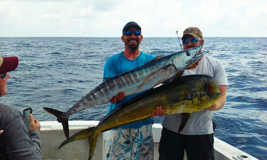 Dolphin and wahoo caught on our sportfish charter