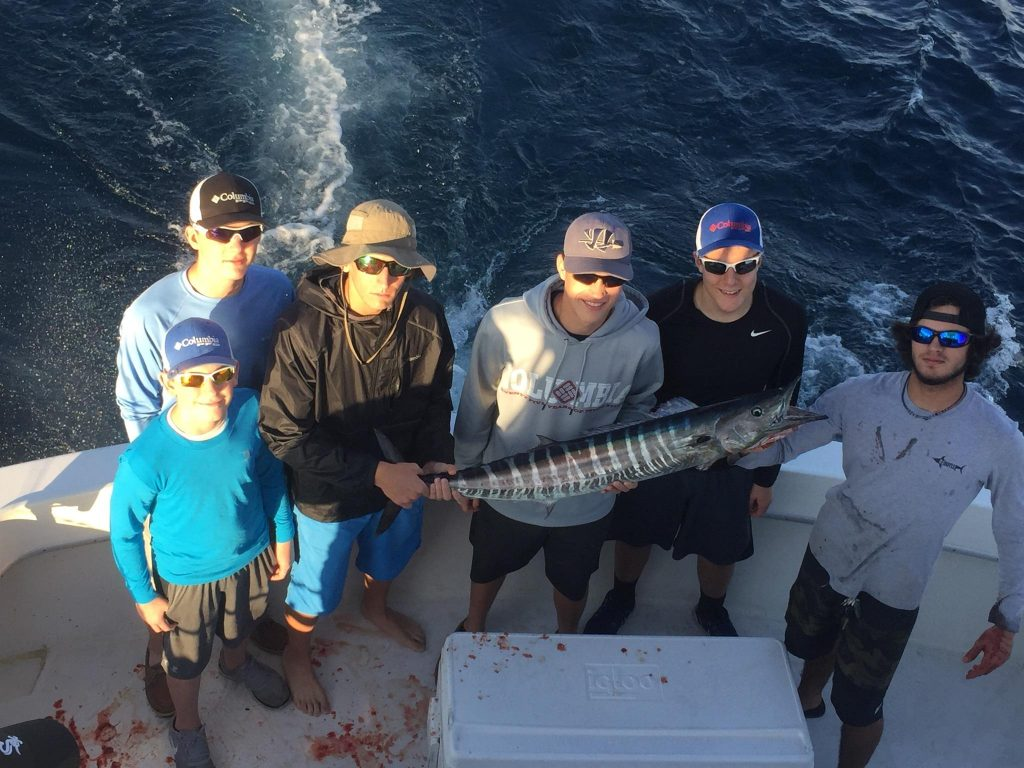 Nice wahoo just caught trolling the Ft Lauderdale reef.