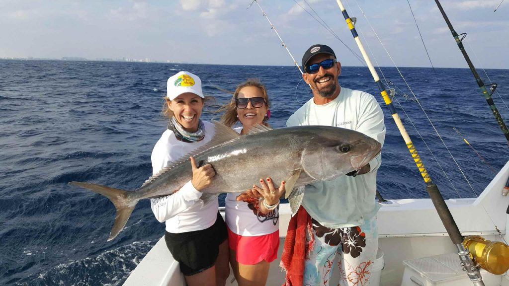 Lucky fisher gals with a monster amberjack