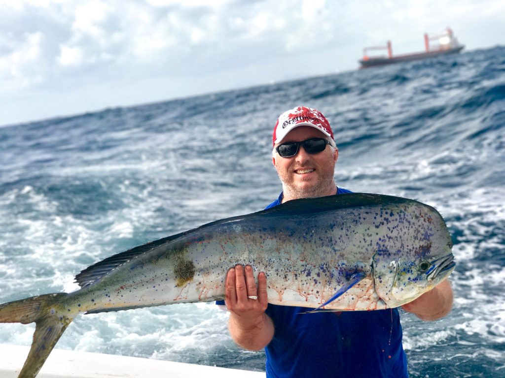 Nice bull dolphin caught by this happy angler.