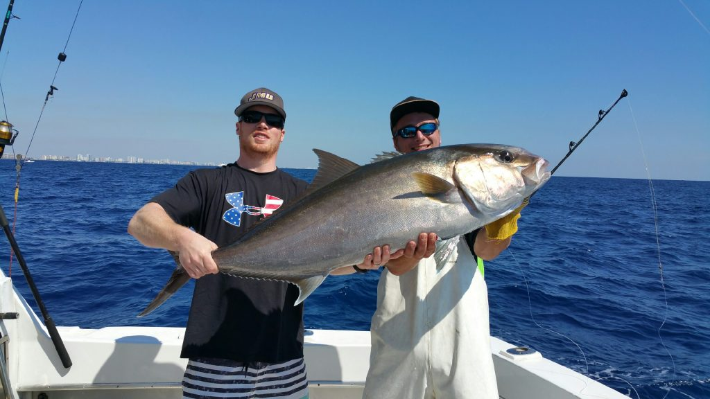 Nice amberjack caught deep dropping