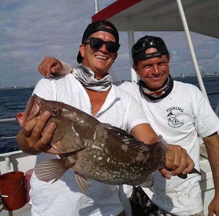 Nice red grouper caught drift fishing by this lucky angler.