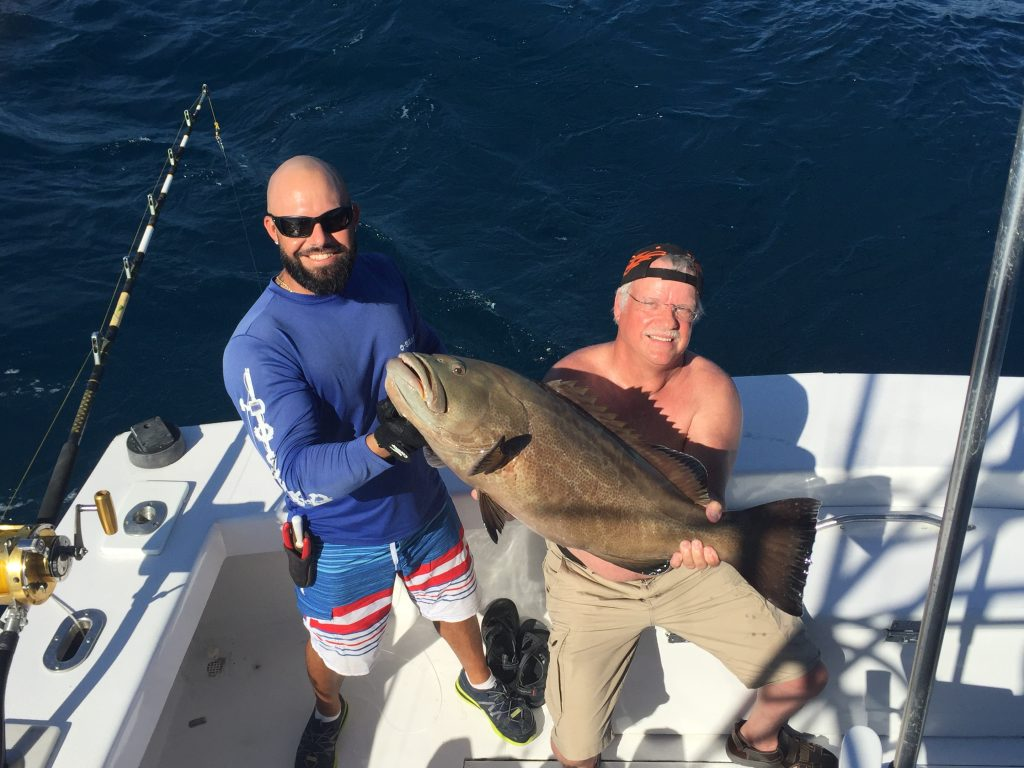Nice grouper caught deep dropping