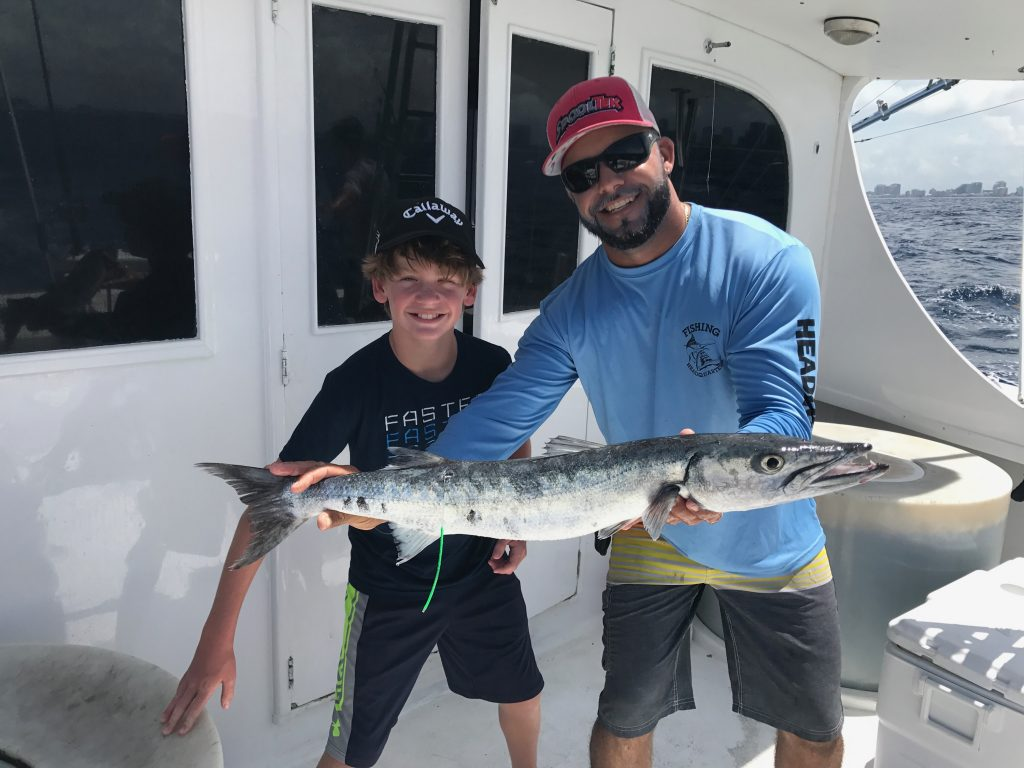Lucky angler caught this big barracuda.